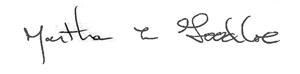 Martha signature